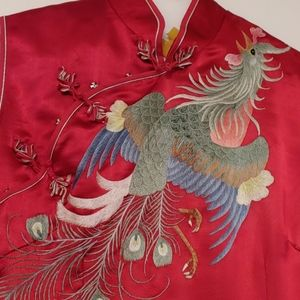 Red dress with a beautiful Embroidery